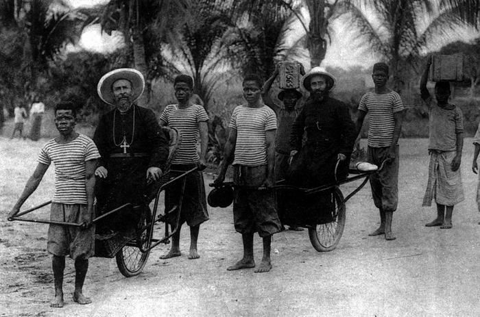 Monseigneur Augouard en mission au Congo
