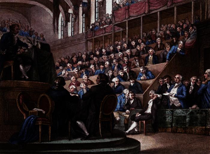 Le procès de Louis XVI. Louis XVI devant la Convention en décembre 1792.