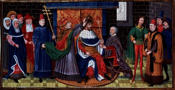 Sacre de l'empereur Charlemagne par le pape Léon III