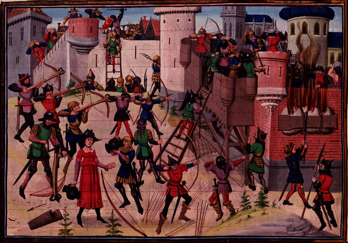 Siège de Jérusalem par les chrétiens lors d'une des croisades