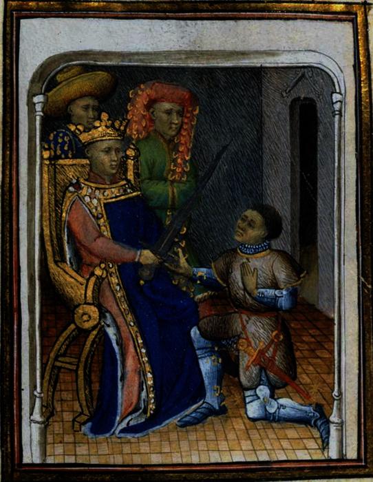 Charles V le Sage remettant à du Guesclin l'épée de connétable de France