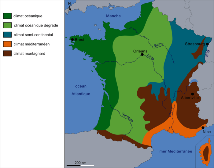 Les climats en France