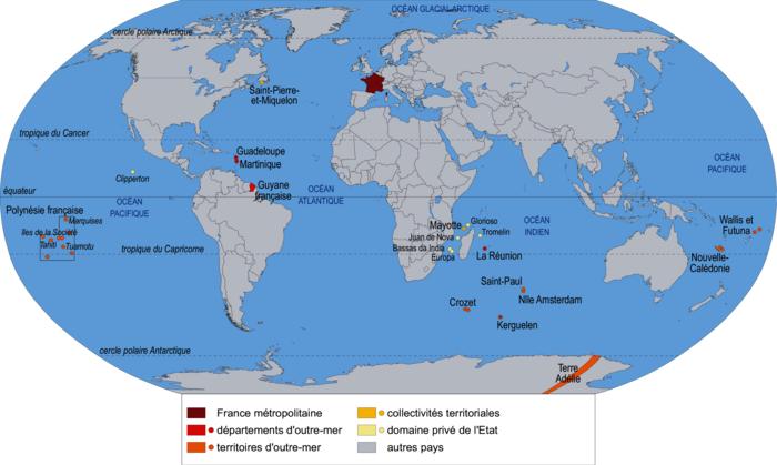 Les territoires français dans le monde
